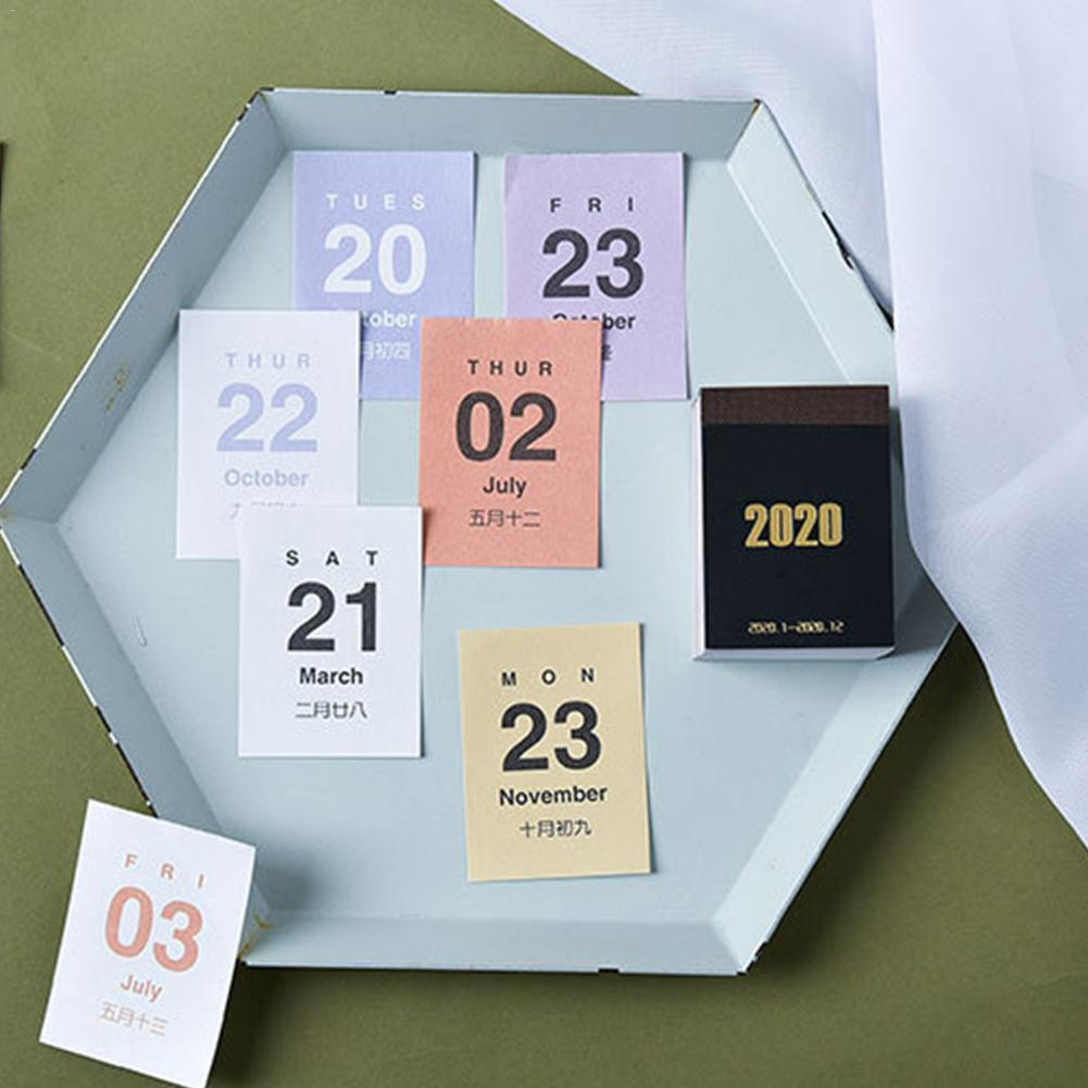 Creativing Simplicity 2019 2020 Mini Calendars DIY Journal Learning Sticky Sticker Bullet Planner Schedule No Q6H3