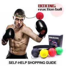 Punch Speed Ball Boxing Reflex MMA Sanda Boxer Raising Reaction Force Hand Eye Training Set Stress Gym Boxing Muay Thai Exercise