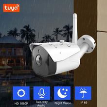 Tuya 1080P WiFi IP Camera Outdoor CCTV Surveillance Security Camera Support Alexa Google Home with IP66 Waterproof Night Vision