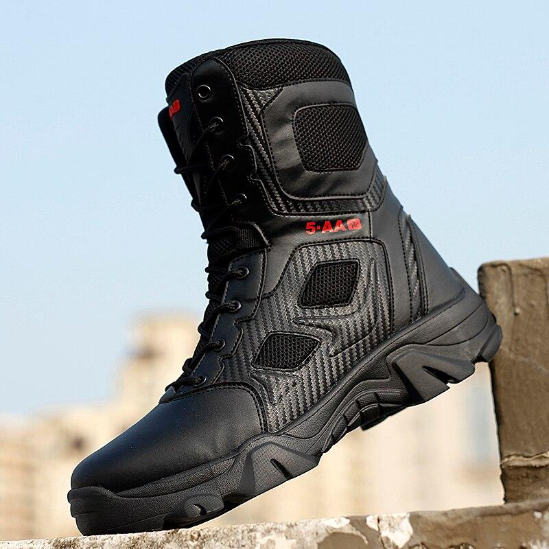 Yüksek Top taktik bot erkek ayakkabısı su geçirmez yürüyüş ayakkabıları açık avcılık botları dağ ayakkabı adam çöl savaş askeri bot