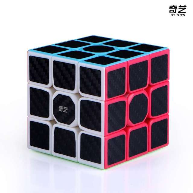QiYi Warrior W 3x3x3 carbon fibre Professional Magic Cube Competition 3x3 Speed Puzzle Cubes Toys For Children Kids Best Gift 1