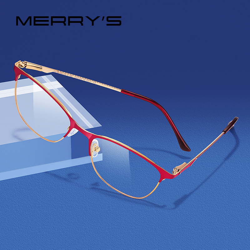MERRYS DESIGN Women Fashion Trending Cat Eye Glasses Full Frame Ladies Myopia Eyewear Prescription Optical Eyeglasses S2005