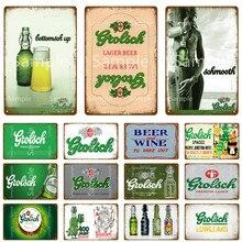 Grolsch pôster de cerveja em metal, pôster de parede, pintura artística, placa decorativa, para bar, clube, decoração de casa, arte para artesanato yk052