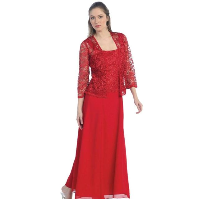 Robe De Soiree Lace Long Evening Dress Jacket Long Sleeve Wedding Guest Dress Two Piece Formal Mother of the Bride Dresses 4