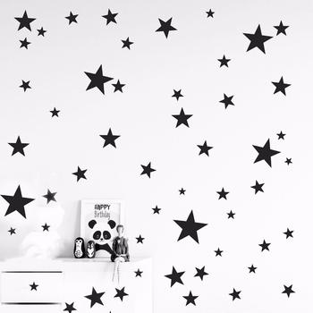 150 sztuk mieszane rozmiar łatwe zastosowanie wymienny gwiaździste naklejki z gwiazdkami dzieci dekoracja ścienna do pokoju die cut vinyl star naklejka drop ship tanie i dobre opinie coolife 3d naklejki Amerykański styl Do lodówki Na ścianie Meble Naklejki Naklejki okienne Wielu kawałek pakiet WALL