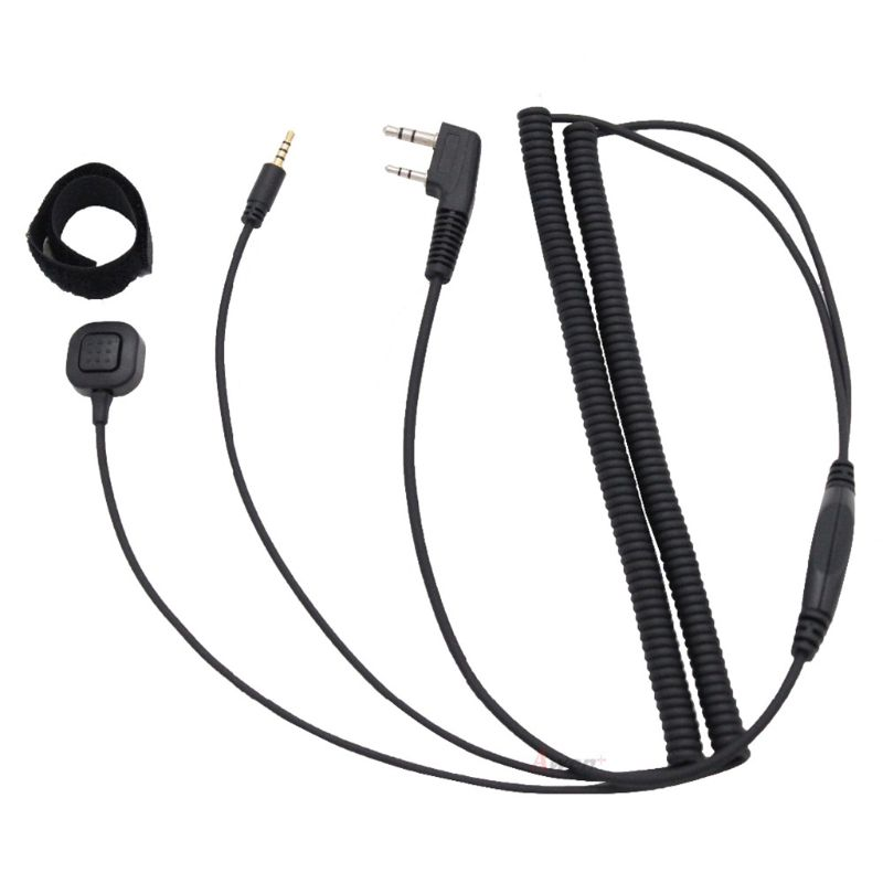 Vimoto V3 V6 Bluetooth Helmet Headset Special Connecting Cable For Baofeng UV-5R Walkie Talkie Accessories