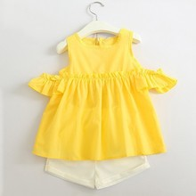 Girls Clothes  Summer Style Baby Clothing Sets Cotton Vest Two-piece Casual Fashion Suit Skirt 40