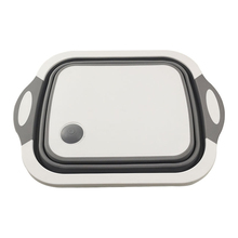 Folding cutting board new multifunctional plastic portable sink kitchen drain basket