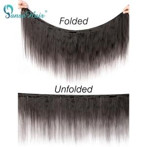 Image 5 - Panse волосы индийские прямые человеческие волосы пряди с фронтальной 4X4 закрытие шнурка не Реми волосы 4 шт уток и 1 шт. Фронтальная Бесплатная доставка