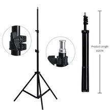 사진 스튜디오 용 2M 라이트 스탠드 삼각대 Softbox 비디오 플래시 우산 반사경 조명 Bakcground Stand