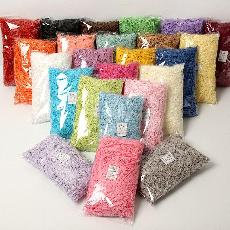 100g/Pack Multi Color Shredded Crinkle Paper Confetti Gift Box Basket Filler Lafite Shredded Paper Wedding Party Shredded Tissue