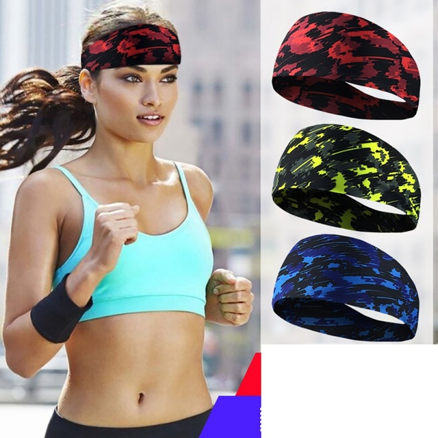 Outdoor Fitness Running Headband Bandage Quick-drying Sweat Belt Sports Tennis Headband Sweat-proof Breathable Headband 5
