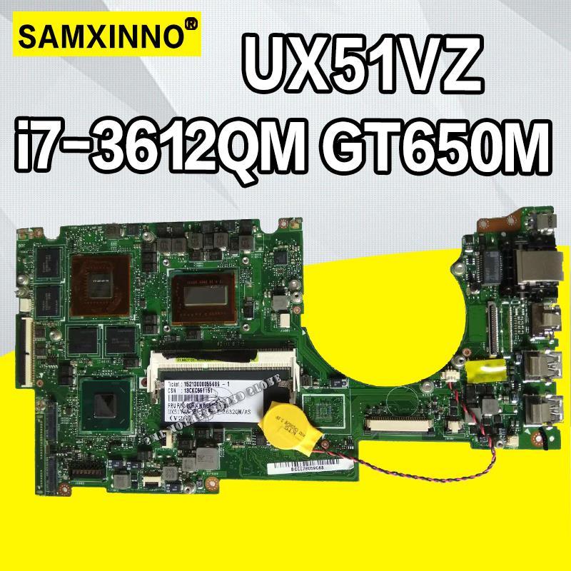 UX51VZ Carte Mère i7-3612QM GT650M Pour For Asus U500V U500VZ UX51VZA UX51VZ Ordinateur Portable carte mère UX51VZ Carte Mère UX51VZ Carte Mère