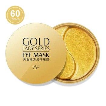 60pcs Gold Eye Mask Anti Wrinkle Crystal Collagen Eye Patches for Eye Care Dark Circles Remove Eye Mask Gel Anti-Aging Skin Care