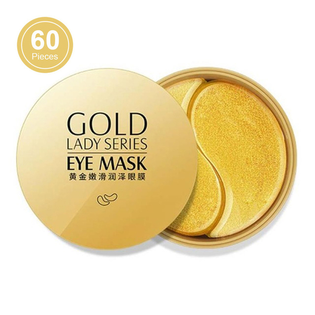 60pcs Gold Eye Mask Anti Wrinkle Crystal Collagen Eye Patches for Eye Care Dark Circles Remove Eye Mask Gel Anti-Aging Skin Care 1