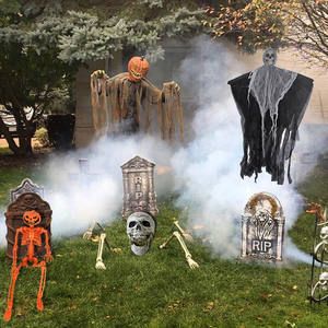 Cyuan Garden-Decor Skeleton-Props Party-Supplies Haunted House Hanging Skull Tombstone