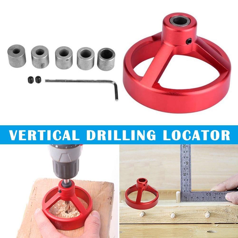 Carpentry Puncher Drill Vertical Light Roundwood Spigot Hole Puncher Woodworking Locator Punchers QJS Shop