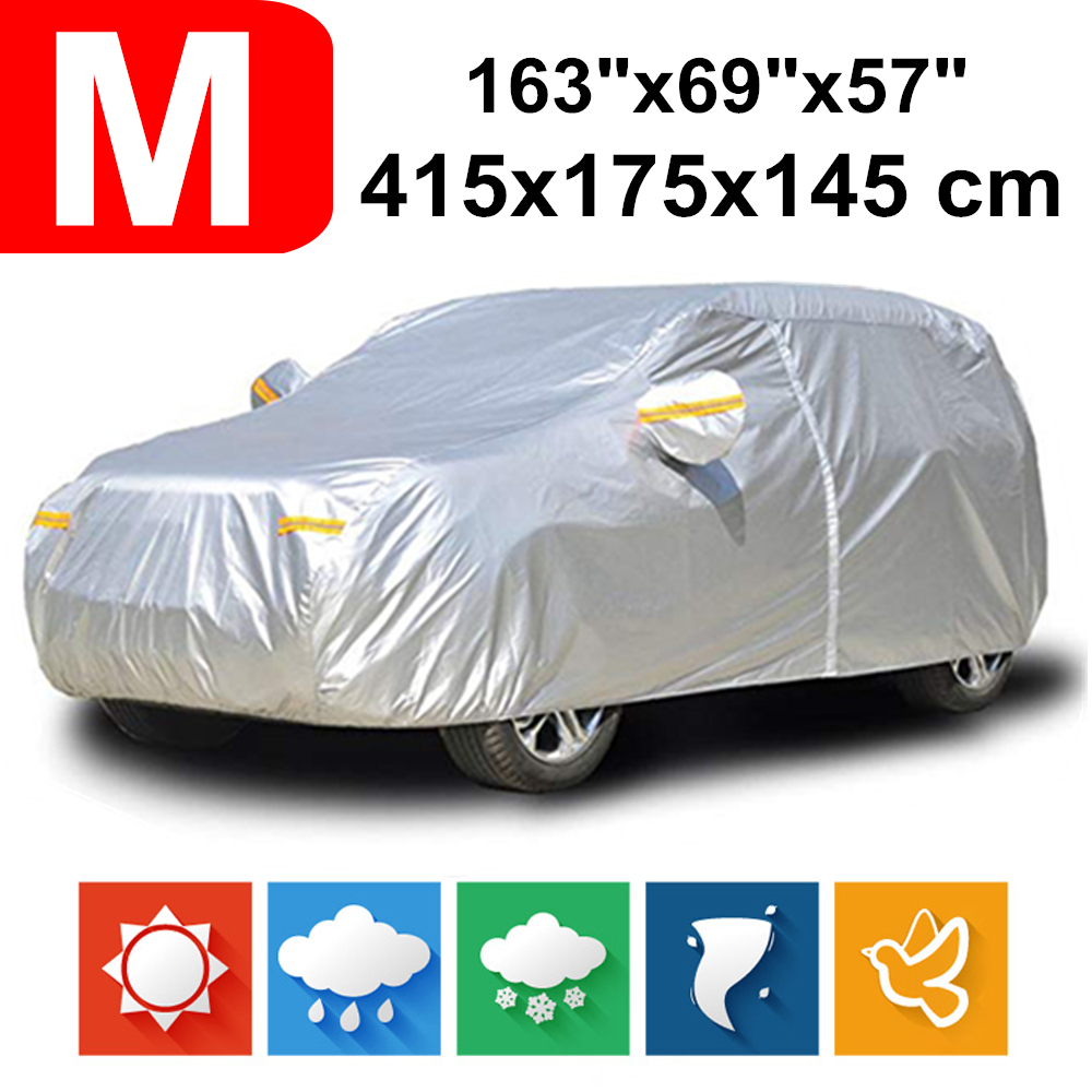 415x175x145 Hatchback 190T Waterproof Car Covers Dust Rain Snow UV Protection For Audi A1 S3 DDD i3 Honda Jazz Toyota Alfa Romeo|Car Covers| |  - title=