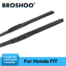 цена на BROSHOO Car Windshield Wiper Blade Rubber For Honda Fit 2004 2005 2006 2007 2009 2010 2011 2012 2013 2014 2015 2016 2017 2018