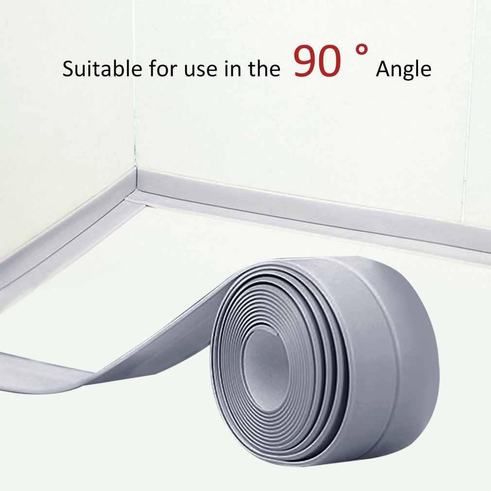 1 rouleau PVC matériel cuisine salle de bains mur bande d'étanchéité étanche moule preuve ruban adhésif 38mm * 3.2m