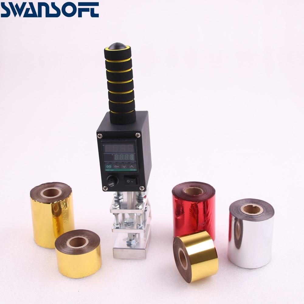 SWANSOFT handheld IPPC branding machine wood machine trademark marking machine with hot stamping paper and custom logo mold