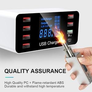 Image 5 - IHaitun LED 8 Cổng 8A 40W QC 3.0 Sạc USB Type C Di Động Thông Minh Đế Sạc Điện Thoại Cho iPhone X XS Samsung S10 Huawei P30 Pro