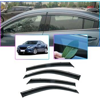 ABS 4pcs Car Styling Smoke Window Sun Rain Visor Deflectors Guard For Mazda 6 Atenza 2014 2015 2016 2017 2018 Accessories