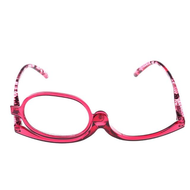 Women Makeup Reading Glasses Rotatable Flip Make Up Eye Glasses Presbyopic +1.00 To +4.0  5