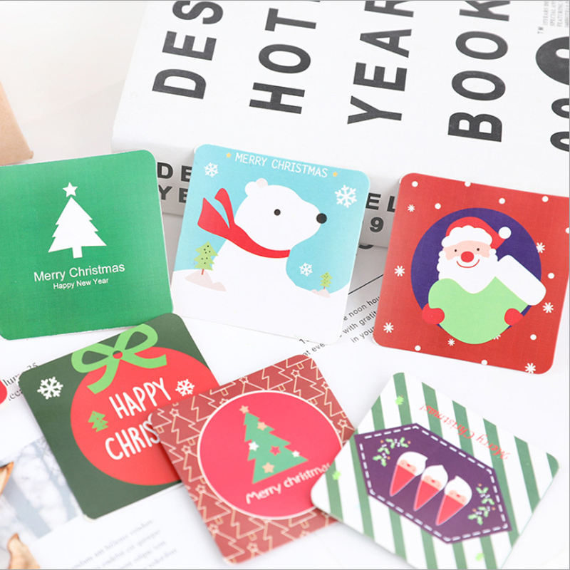 Us 10 66 35 Off 50pcs Mini Christmas Party Invitation Card Kawaii Postcards Birthday Letter Paper Save The Date Message Cards In Cards Invitations