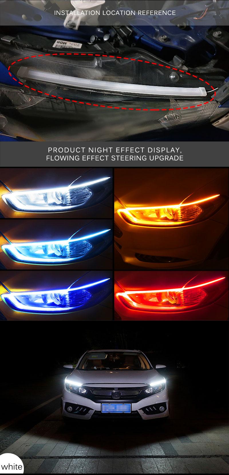 H83bb9dffc1db4848909100a76c8ac422h Ceyes 2pcs Led DRL Daytime Running Lights Turn Signal DRL Led Strip Car Light Accessories Brake Side Lights Headlights For Auto