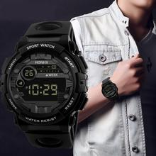2019 New Luxury HONHX Mens Digital LED Watch Digital Date Alarm Waterpr