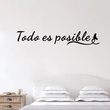 Everything Is Possible Wall Stickers Spanish Inspirational Quotes For Teen Room Modern Office Home Decor Vinyl Window Decal yoyoyu wall decal quotes the kitchen is where the heart is vinyl wall stickers modern design fashion home decor interior diycy74