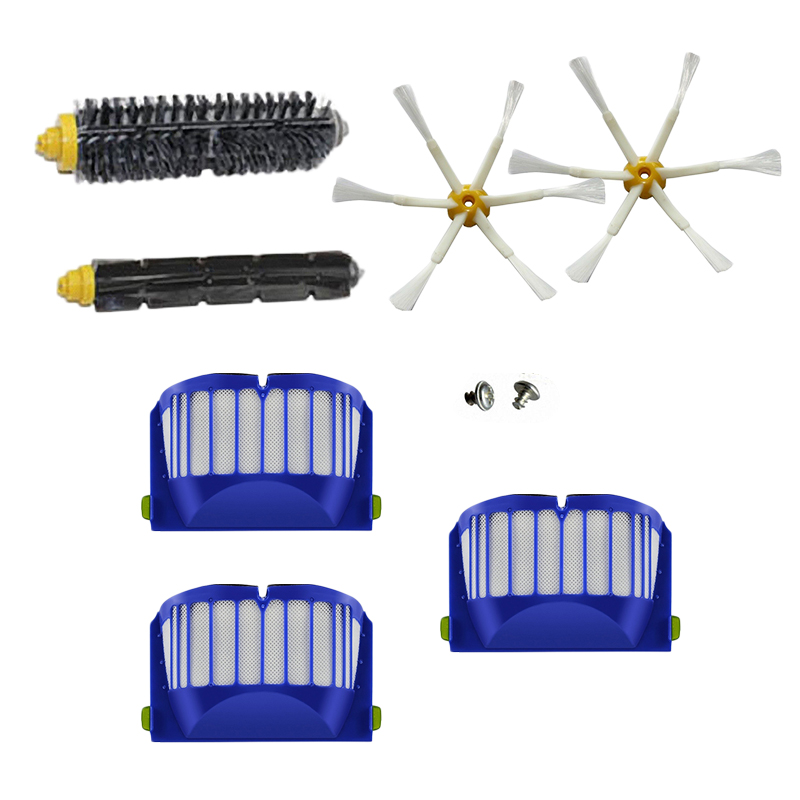Replacement Kit For IRobot Roomba 600 Series 605 610 Vacuum Filter Brush Cleaner image