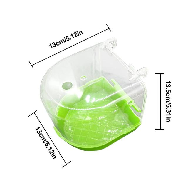 Multi-Function Parrot Bath Boxes Bath Box Water Dispenser Set Wall-Mounted Shower Room Easy to clean With Watering Device 5