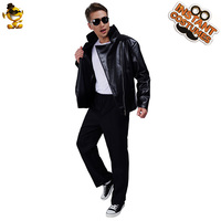 New Teen Cool T birds Leather Jacket cosplay Cool Boy's Black Jacket Costumes
