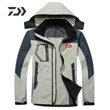 Новинка Daiwa одежда для рыбалки осень зима Флисовая теплая походная одежда для рыбалки Мужская водонепроницаемая с капюшоном dawa, рыболовство рубашка