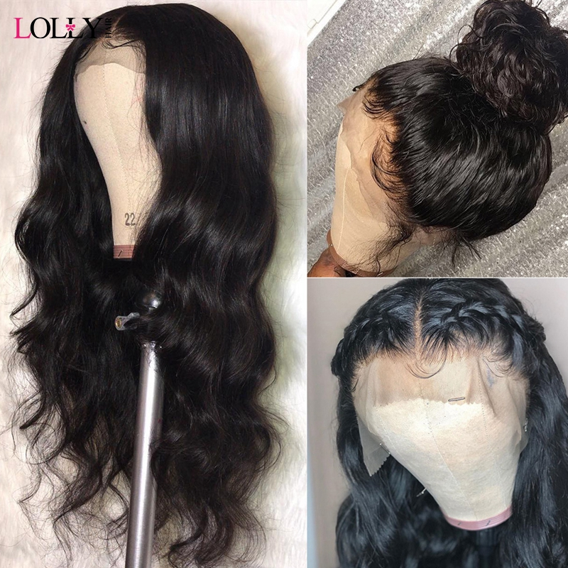 Lolly 4X4 Lace Closure Wig Loose Wave Human Hair Wigs For Black Women 150% Brazilian Lace Front Human Hair Wigs Pre-Plucked