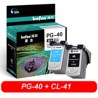 befon PG40 CL41 Re-manufactured Ink Cartridge PG 40 41 Compatible for iP1600 iP1200 iP1900 MP140 MP150 MX300 MX310 MP160