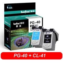 Befon-cartouches d'encre PG40 et CL41, refabriquées, Compatible avec iP1600, iP1200, iP1900, MP140, MP150, MX300, MX310, MP160