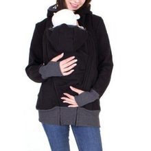 Women Maternity Sweatshirt Striped Baby Pouch Carrier Hoodie Kangaroo Zipper Pregnancy Coat Breastfeeding Nursing Sweatshirt New(China)