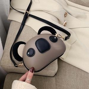 Image 4 - Fashion and Cute Koala Design Pu Leather Female Purses and Handbags Shoulder Bag Crossbody Mini Bag Women Clutch Bag Pouch