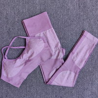 Purple - 11 colors seamless yoga suit