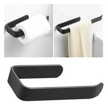 Hanger Paper-Holder Tissue-Rack Wall-Mounted Bathroom Black Kitchen Modern Hook Toilet