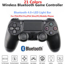 Wireless Bluetooth PS4 Controller Game Joystick 6-Axis Dual Vibration Gamepad For Playstation 4 PS3 PC Laptop Mobile Phone iPad
