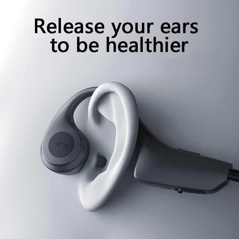DDJ Bone conduction słuchawki bezprzewodowe auriculares słuchawki douszne bluetooth bezprzewodowe słuchawki czarne z głośnik mikrofonu dla apple