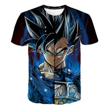 Dragon Ball Z Pria Musim Panas T-shirt 3D Cetak Super Saiyan Hitam Anak Zamasu Vegeta Jiren Dragon Ball T Shirt Tops tees(China)