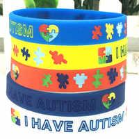 """Pulseras de autismo """"médico"""" y """"tengo conocimiento del autismo"""" pulseras de goma de silicona pulseras de joyería pulseras inspiradoras regalos"""
