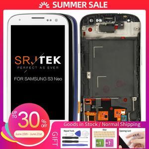 Тест 4,8 для Samsung Galaxy SIII S3 Neo i9301 i9300i i9308i i9301i ЖК-дисплей сенсорный дигитайзер Рамка сборка Замена