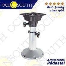 Oceansouth Adjustable Pedestal Aluminium Anodised Shaft Swivel Top For Standard Boat Seats