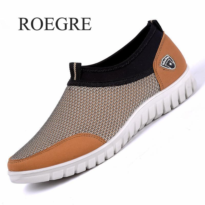 2019 New Men Casual Shoes Sneakers Summer Mesh Breathable Comfortable Men Shoes Loafers Footwears Slipon Walking Big Size 38-48